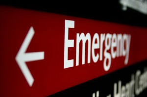 Emergency room sign -small